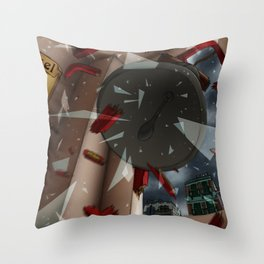 The Glass and the Bell Throw Pillow