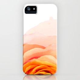 Light Orange Rose iPhone Case