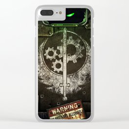 Brotherhood of Steel Clear iPhone Case
