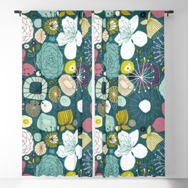oriental blooms peacock Blackout Curtain