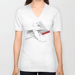 Malevich 3D [B&W] Unisex V-Neck
