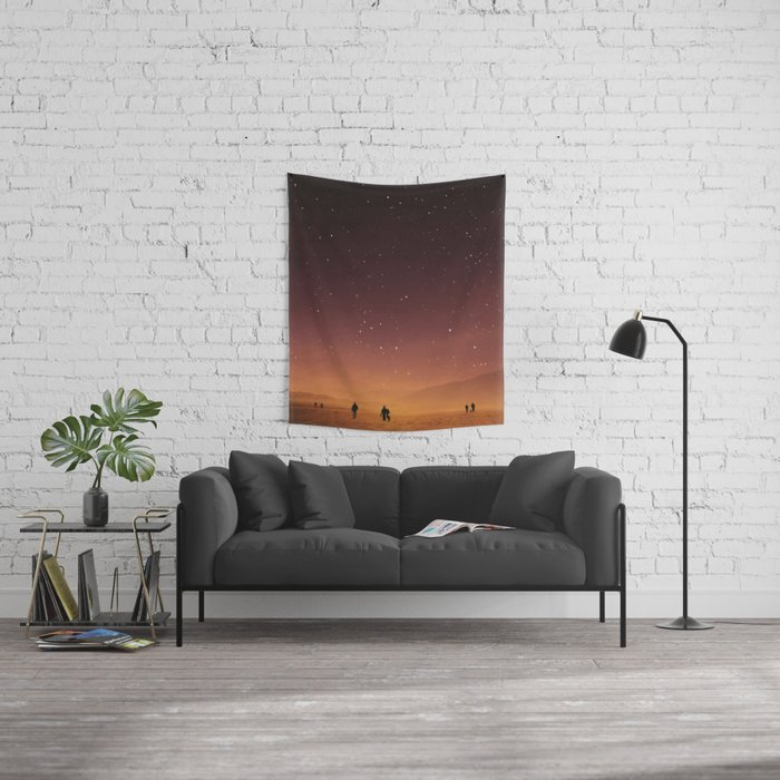 Planet Walk Wall Tapestry