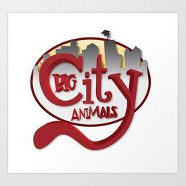 Big City Animals Art Print