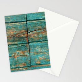 Rustic Teal Boards (Color) Stationery Cards