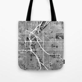 Denver Colorado Street Map Tote Bag