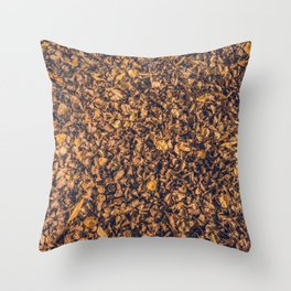 carpet of leaves Throw Pillow
