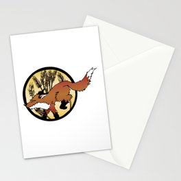 Fox On The Hunt Stationery Cards