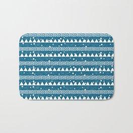 Mountain Pattern Blue Bath Mat