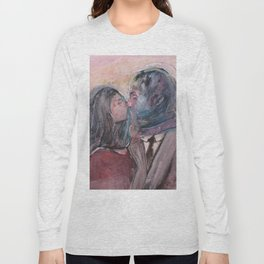 Lovers from Magrite Long Sleeve T-shirt