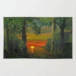 Forest Sunset Rug