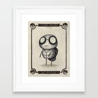 squirtle Framed Art Prints featuring #007 Squirtle by Vaughn Pinpin