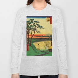 Japanese Tea House on River Long Sleeve T-shirt