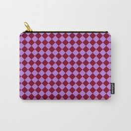 Lavender Violet and Burgundy Red Diamonds Carry-All Pouch