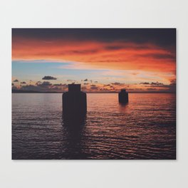 Sunset at Rompeollas Canvas Print