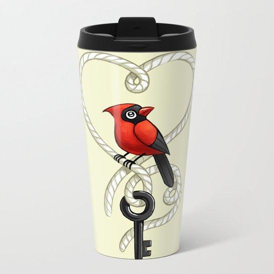 Love Bird Metal Travel Mug