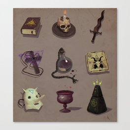 Occult items Canvas Print
