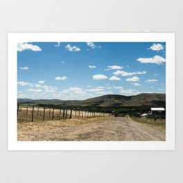 White clouds in the mountains Art Print