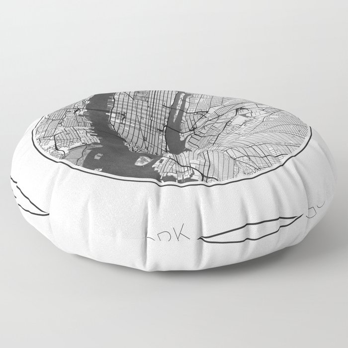 New York Map Universe Floor Pillow