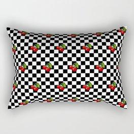 Checkered Cherries Rectangular Pillow