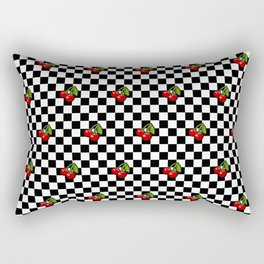 Checkered Cherries Rectangular Pillow