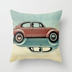ying and yang Bugs Throw Pillow