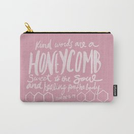 Honeycomb Proverbs x Rose Carry-All Pouch