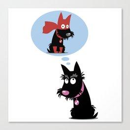 Dream dog Canvas Print