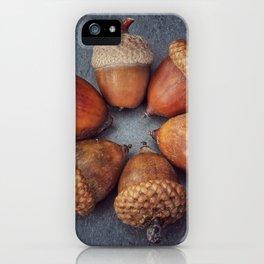 Acorn circle iPhone Case