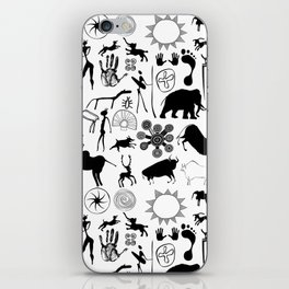 Cave paintings - primitive art iPhone Skin