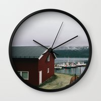 boats Wall Clocks featuring Boats by A. Serdyuk