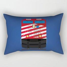 Red Train Rectangular Pillow