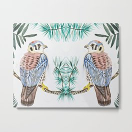 kestrel watercolor Metal Print