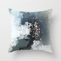 flight Throw Pillows featuring flight by Rafael Igualada
