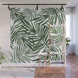 Watercolor simple leaves Wall Mural
