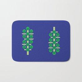 Vegetable: Brussels Sprout Blue Bath Mat