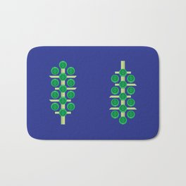 Vegetable: Brussels Sprout Blue Bath Mat