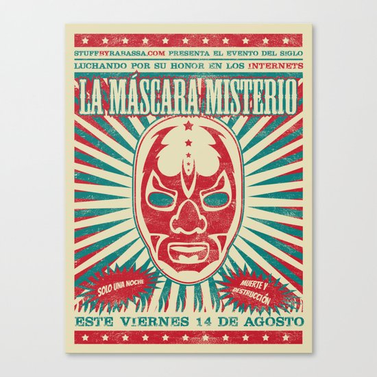 The Mysterious Mask Canvas Print