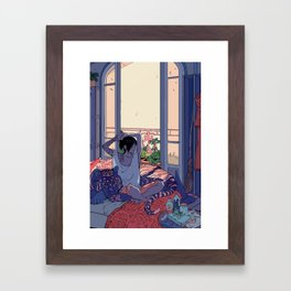 Witch and the Night and Day tiger Framed Art Print