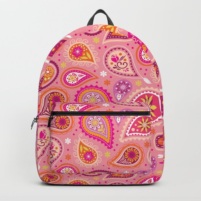 Colorful summer paisleys Backpack