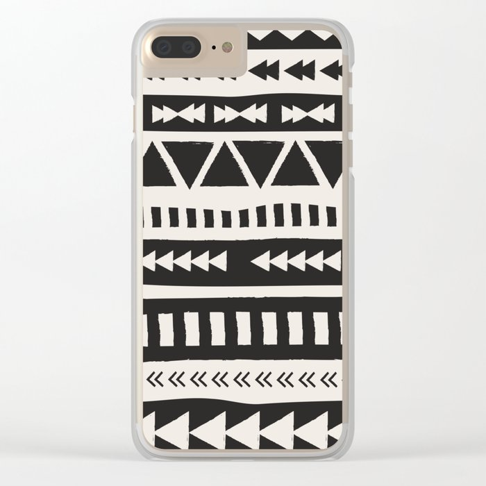 Boho style pattern Clear iPhone Case