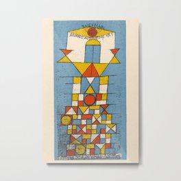 Paul Klee - Postcard No. 4 Metal Print