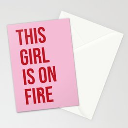 This girl is on fire Stationery Cards