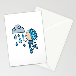Rain Cloud Girl Stationery Cards