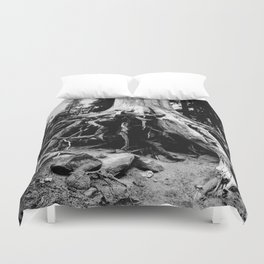Mt. Hood Tree Roots Duvet Cover