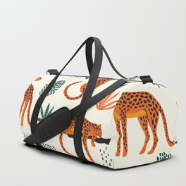 Seamless pattern with leopards Duffle Bag