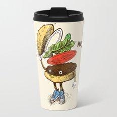 Burger Greeting Travel Mug