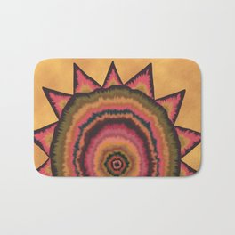 Autumn SunFlower Mandala Bath Mat