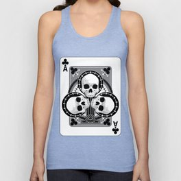Skull Ace of Clubs Unisex Tank Top