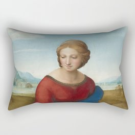 "Raffaello Sanzio da Urbino ""The Madonna of the meadow"", circa 1506 Rectangular Pillow"
