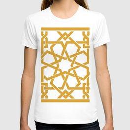 Yellow Islamic Geometric Art T-shirt